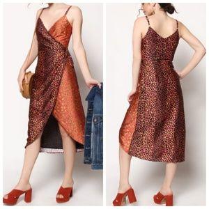 NWT Honey Punch Mixed Floral Print Wrap Dress